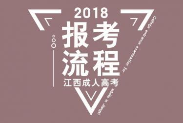 2018年江西成人高考报名考试流程