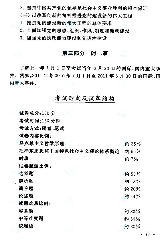 2019年成人高考专升本《政治》考试大纲
